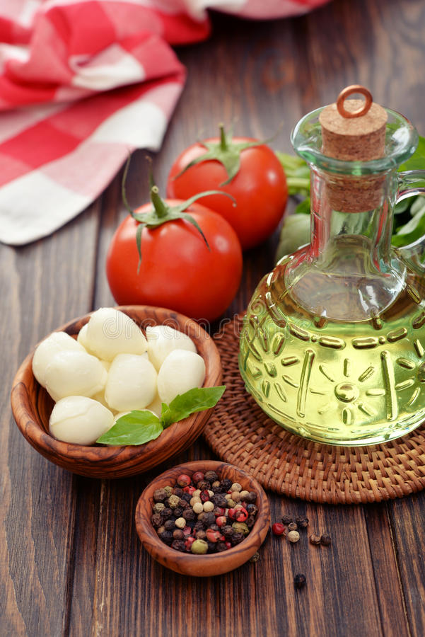 Download Ingredients For Caprese  Salad Stock Image - Image: 39174393