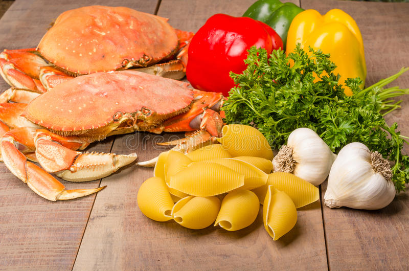 Download Ingredients for crab pasta stock photo. Image of claw - 29512484
