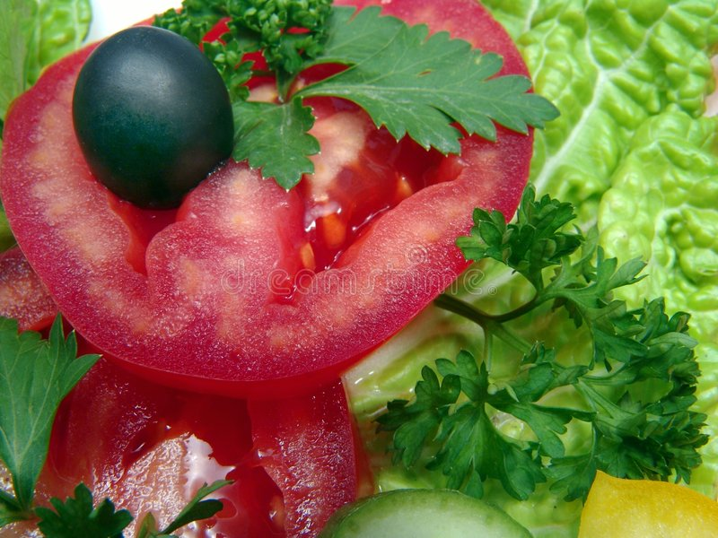 Ingredients dietic salad stock photography