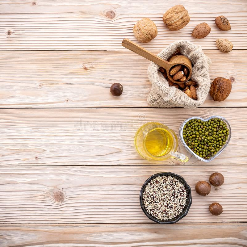 Ingredients for the healthy foods selection . royalty free stock photo
