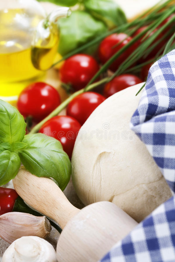 Download Ingredients For Homemade Pizza Stock Image - Image: 19416729