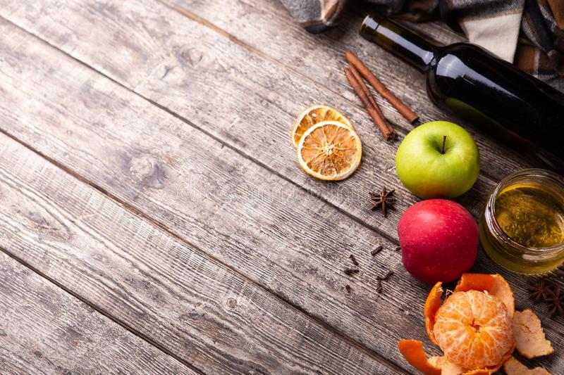 Ingredients for mulled wine stock photo