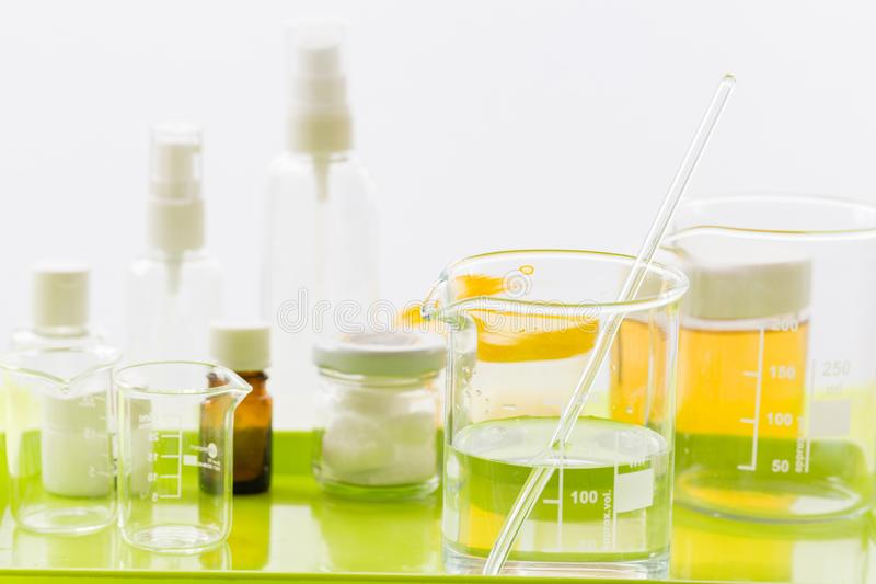 Ingredients for production of natural cosmetics, close-up stock images