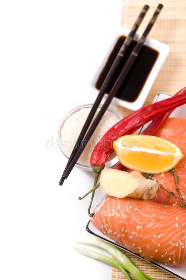 Download Ingredients for sushi stock photo. Image of japanese - 22928686