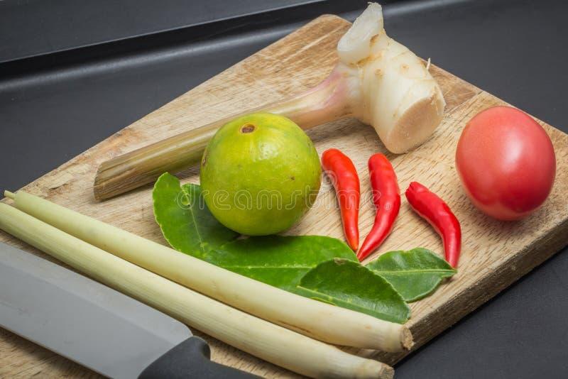 Ingredients of Thai Cuisine royalty free stock image