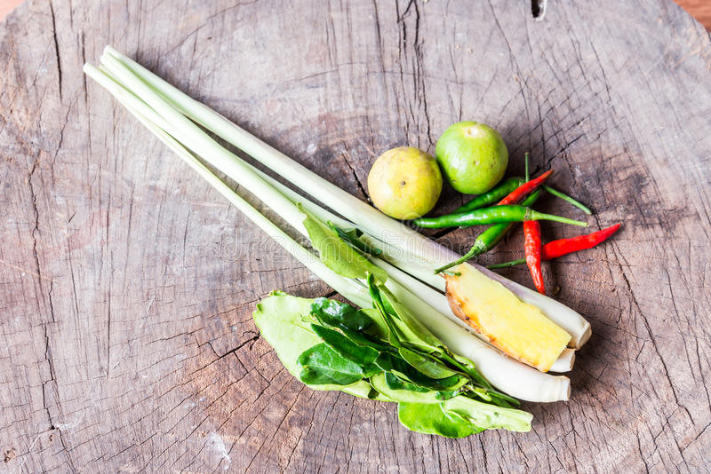 Ingredients for Thai's cuisine Tom Yum royalty free stock photos