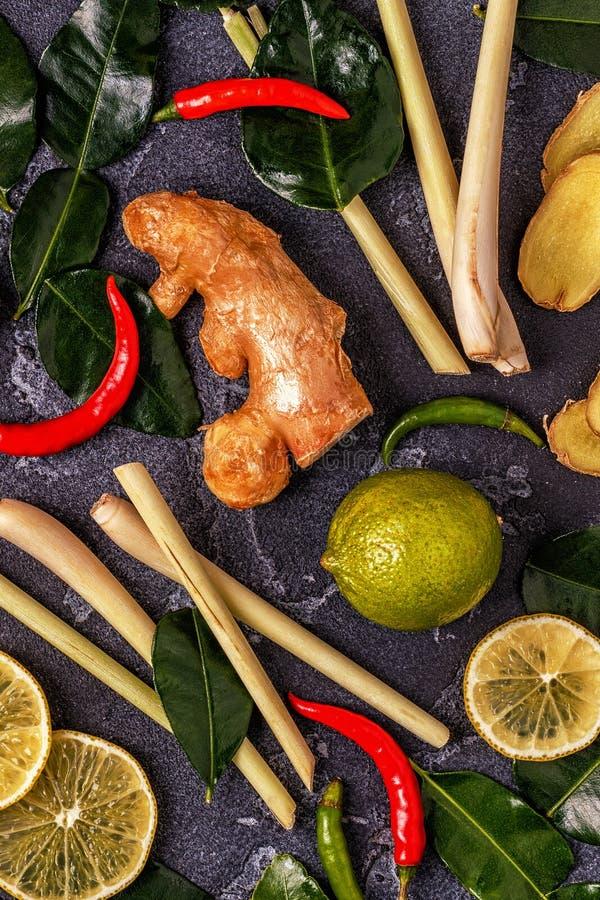 Ingredients of Thai spicy food. royalty free stock image