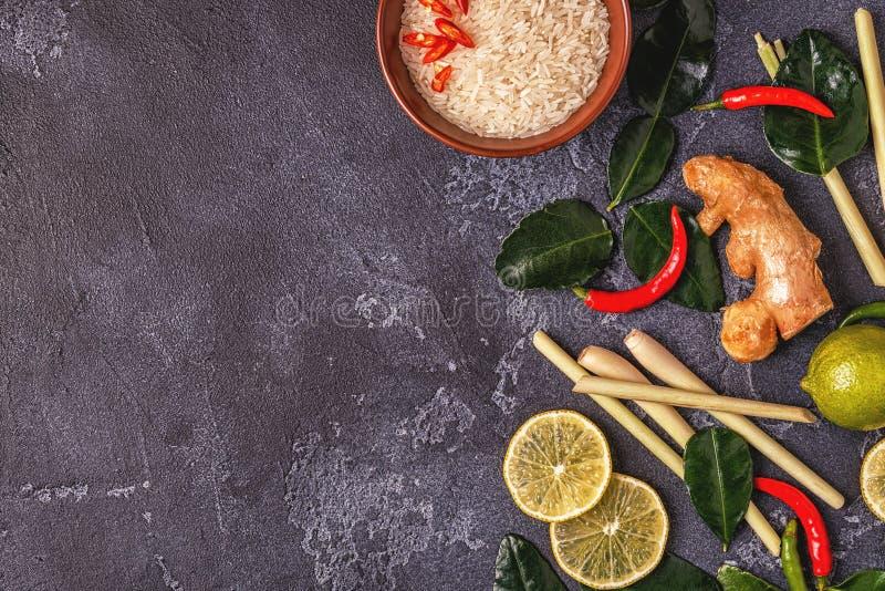Ingredients of Thai spicy food. stock photos