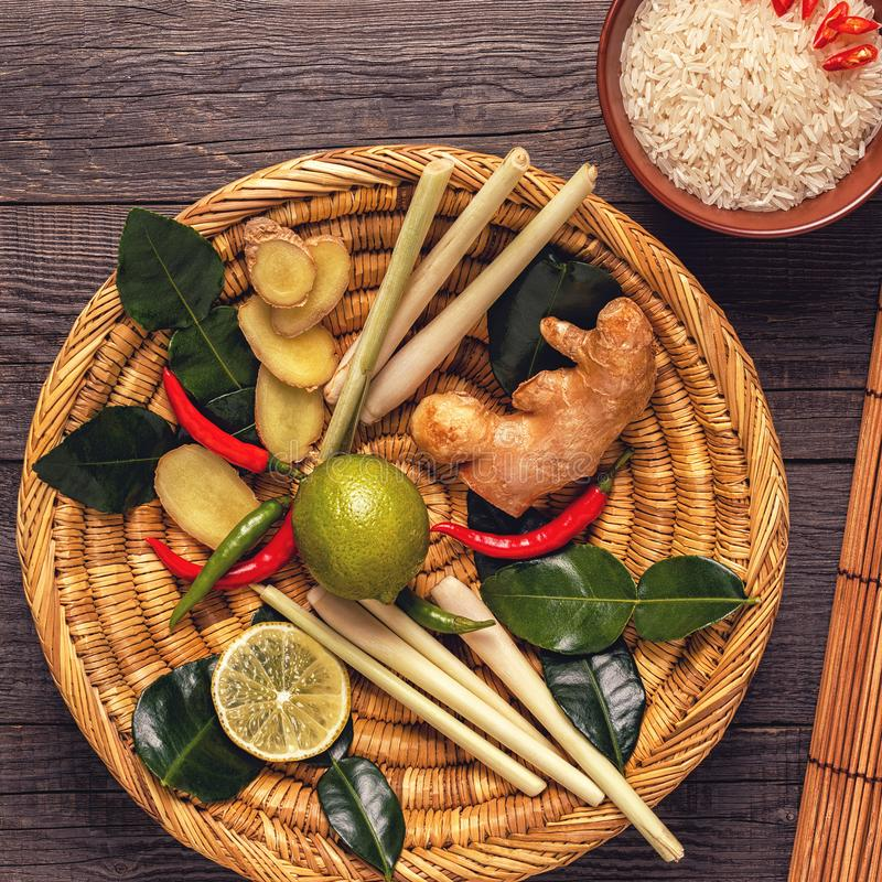 Ingredients of Thai spicy food. royalty free stock photo