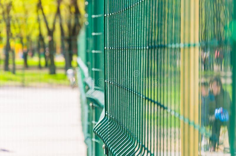 Ingrepp för att fäkta tennisbanan royaltyfri fotografi