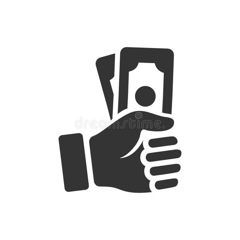 Ingresos, icono del pago ilustración del vector
