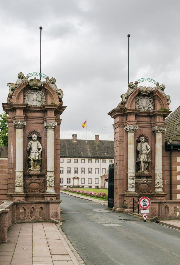 Ingresso all'abbazia di Corvey, Germania immagini stock libere da diritti