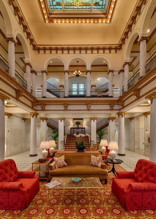 Ingresso capitale dell'hotel fotografie stock libere da diritti