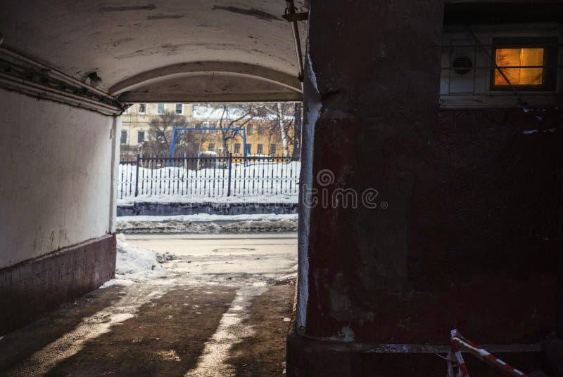 Ingresso di inverno in HDR fotografia stock libera da diritti