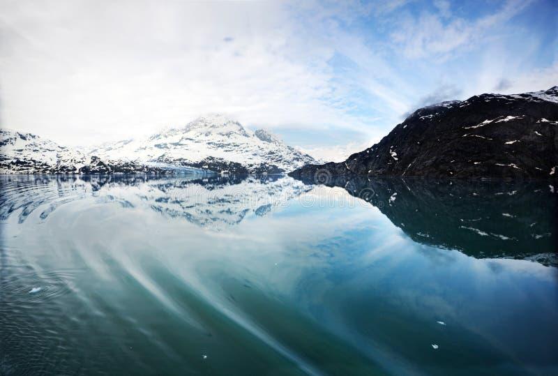 Ingresso di Tarr, baia di ghiacciaio immagini stock libere da diritti