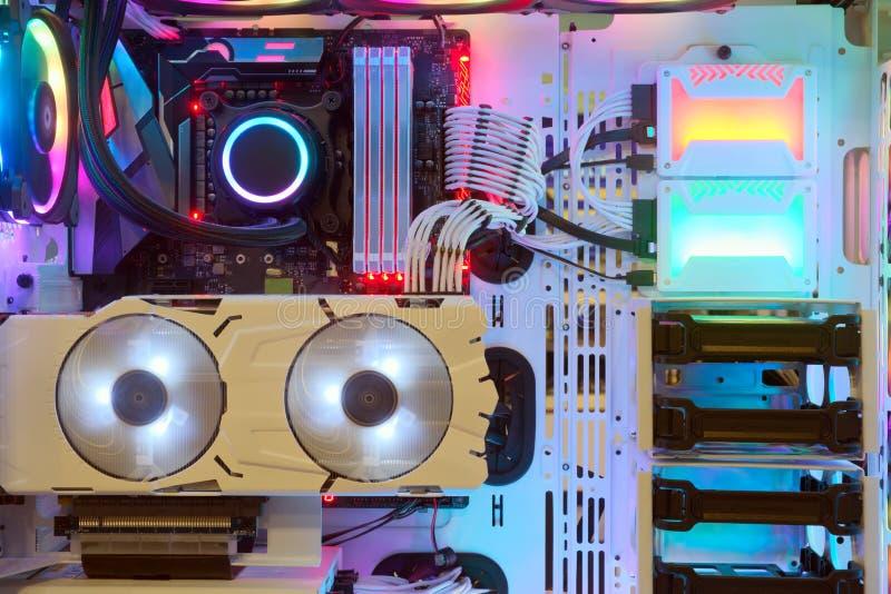 Ingresso PC desktop in modalità operativa fotografie stock libere da diritti