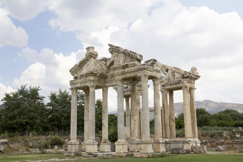Ingresso romano del tetrapylon immagini stock