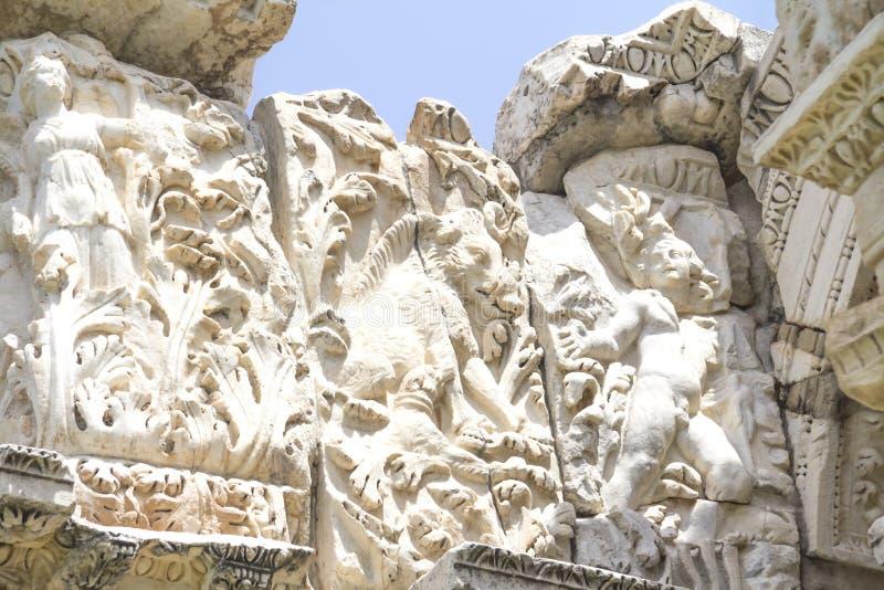 Ingresso romano del tetrapylon fotografie stock libere da diritti