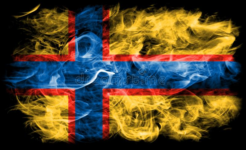 Ingrian rökflagga, Finland beroende territoriumflagga royaltyfri bild