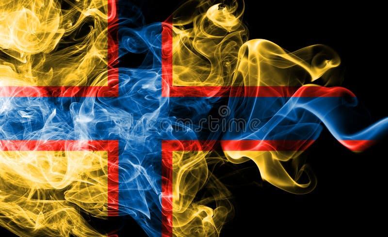 Ingrian rökflagga, Finland beroende territoriumflagga royaltyfri illustrationer