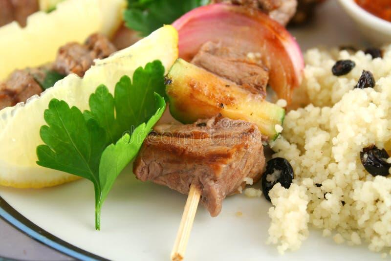 Ingrossi Kebabs fotografia stock