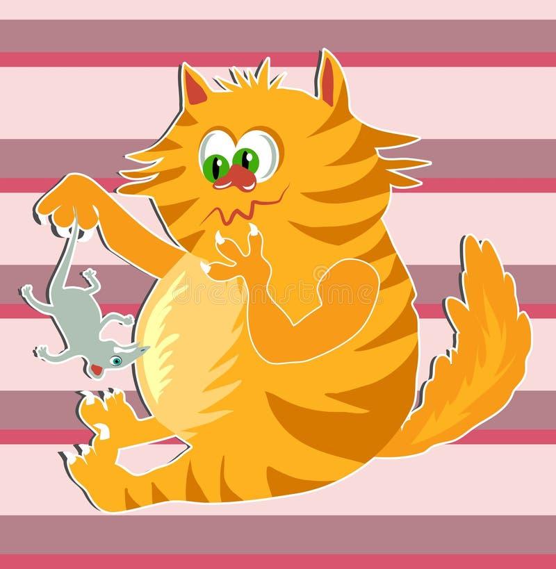 Download Ingwer-Katze vektor abbildung. Illustration von maus, nave - 44608