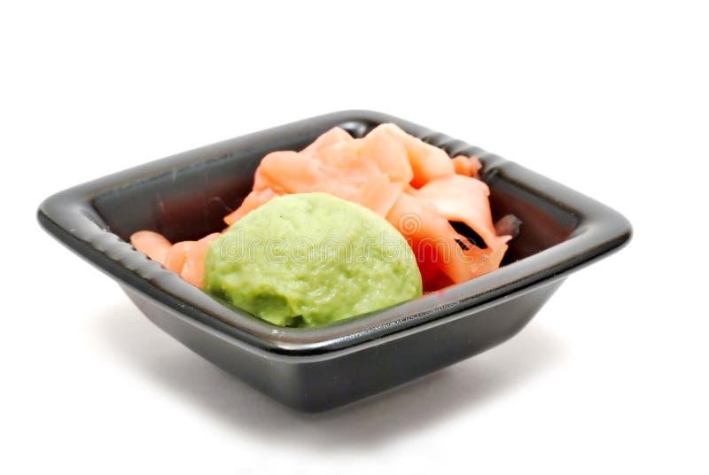 Ingwer und wasabi lizenzfreie stockfotos