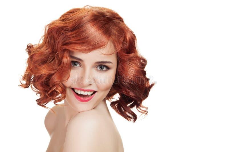 Ingwerschönheit Perfektes rotes Haar lizenzfreies stockbild