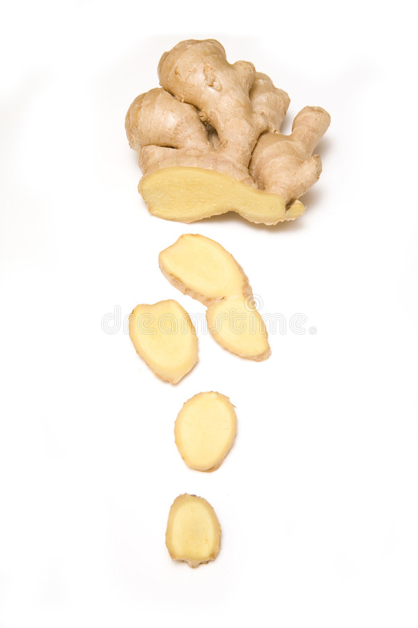 Ingwerwurzel getrennt stockfoto