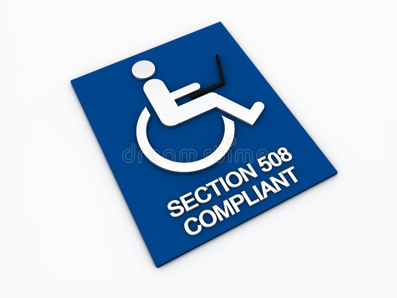 Inhabilidad de la accesibilidad de la sección 508 libre illustration