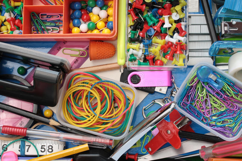 Download Inhabitants Of The Stationery Drawer Background Stock Photo - Image: 16564614
