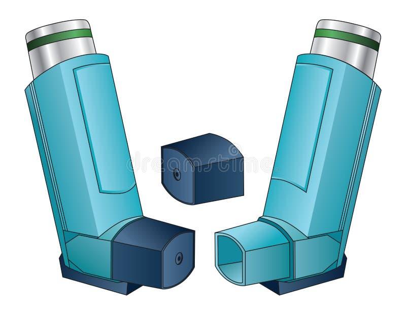 inhalador ilustración del vector