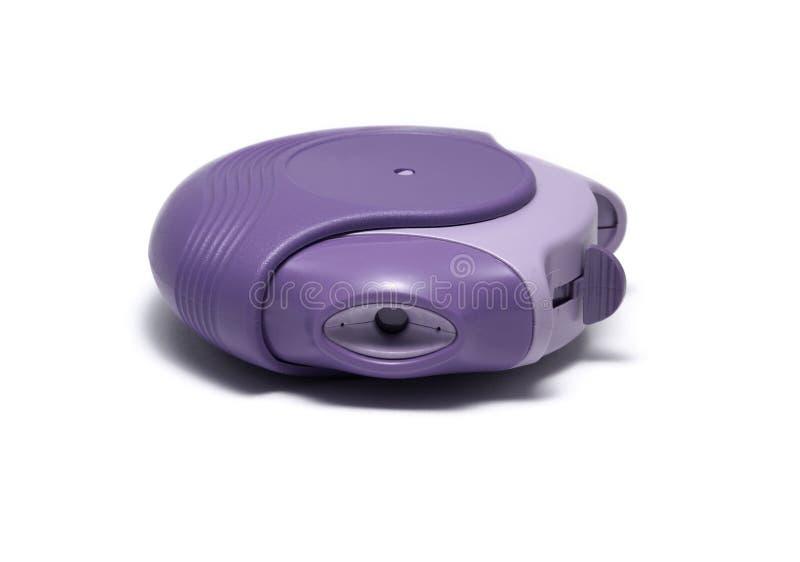 Inhalador del asma aislado en blanco foto de archivo