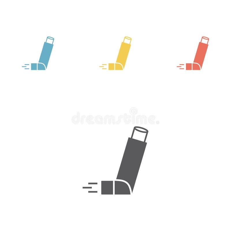 Inhalador para el asma Vector ilustración del vector