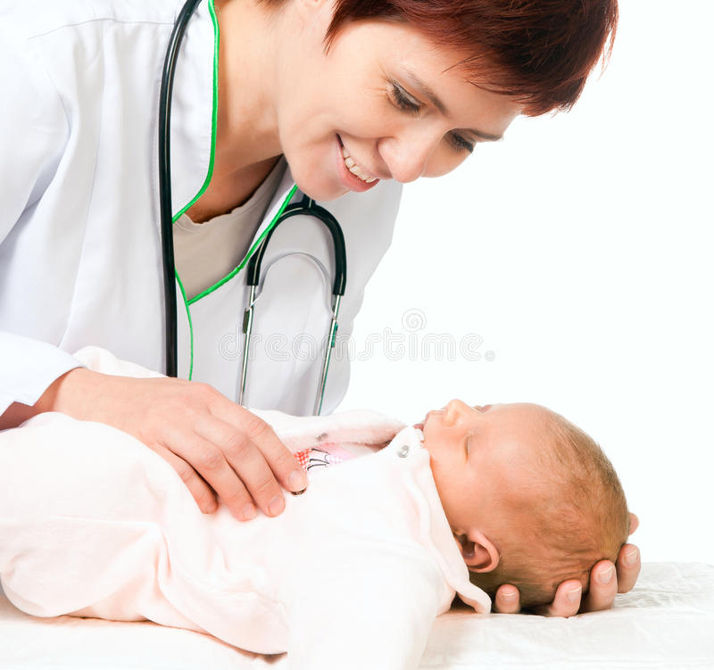 Free Inhalant Doctor Baby Royalty Free Stock Photo - 27384005
