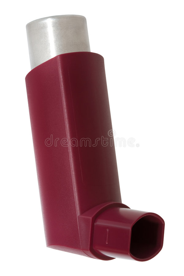 Inhalateur avec une drogue images libres de droits