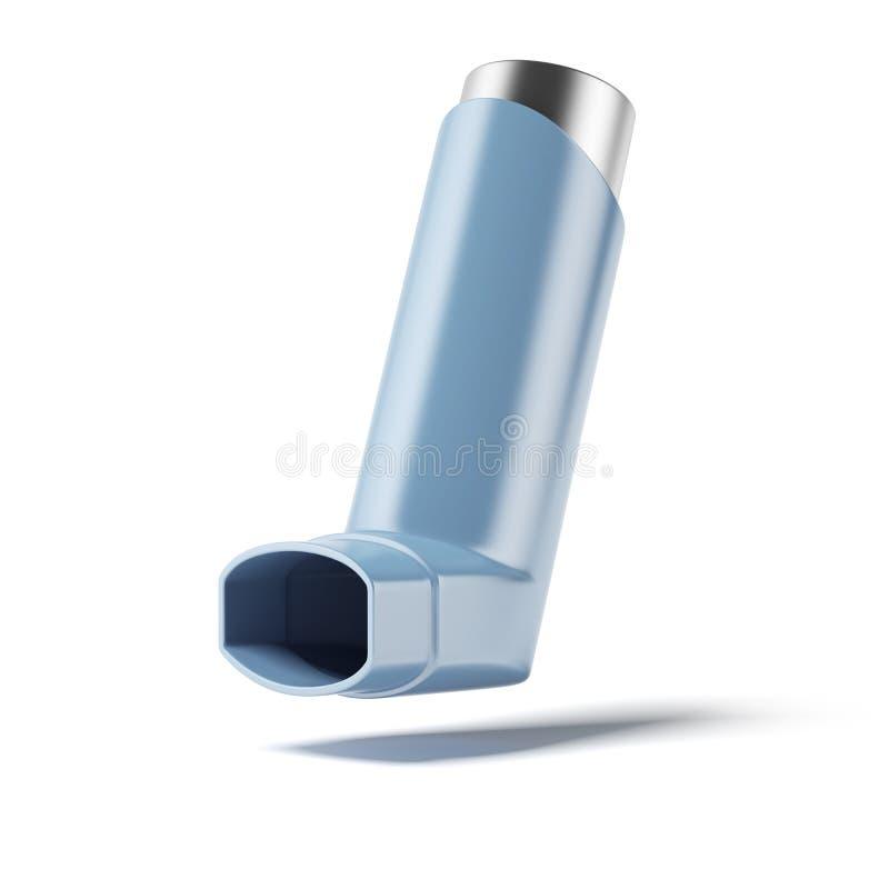 Inhalateur bleu de médecine illustration libre de droits