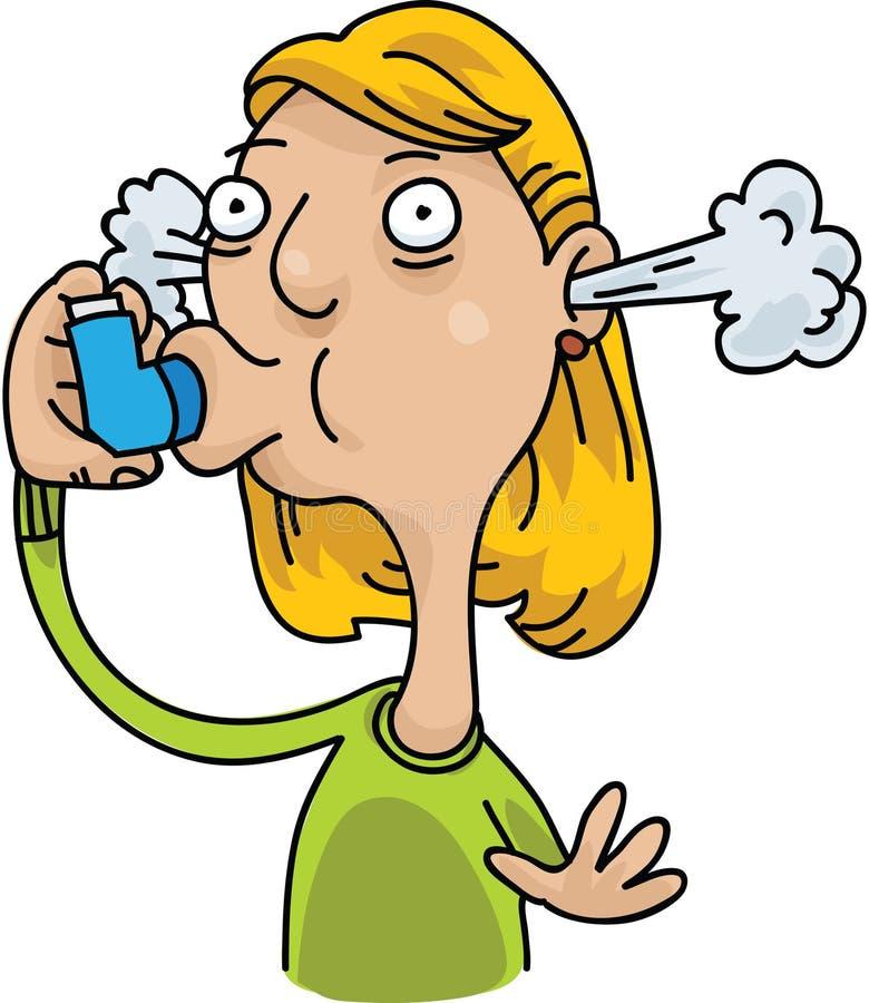 Inhalateur d'asthme illustration stock