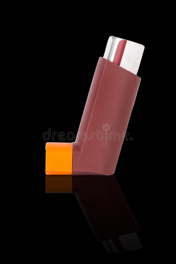 Inhalateur d'asthme de Brown image libre de droits