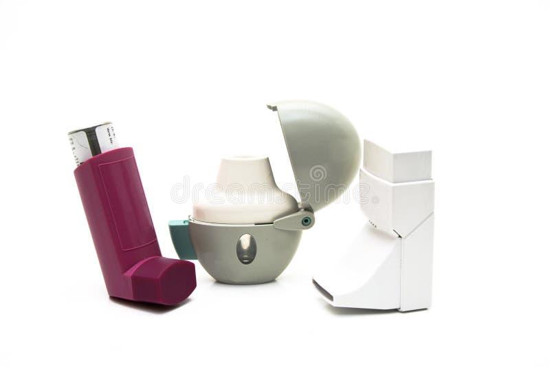 Inhalateur pour la poudre et le jet images stock