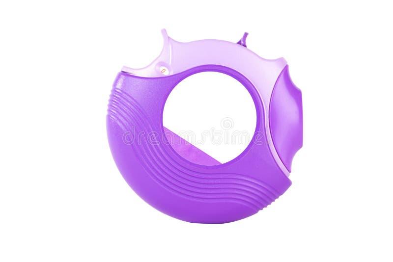 Inhalateur pourpre d'asthme image libre de droits