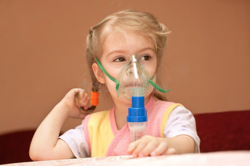 Inhalation photo stock