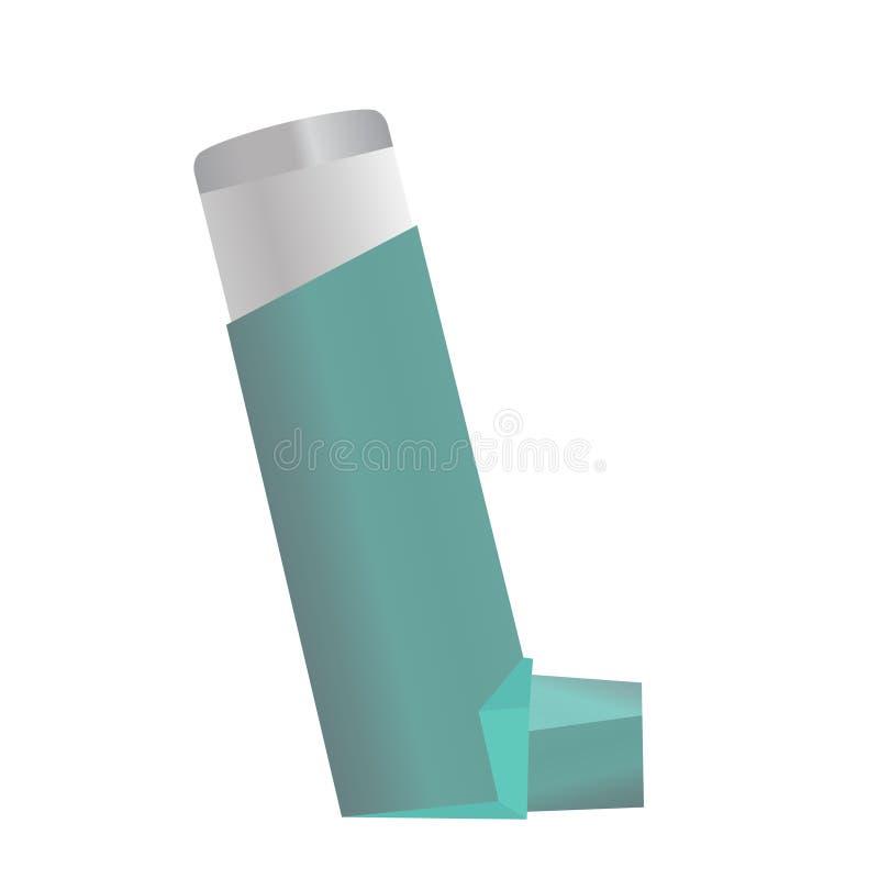 Inhalator für Asthma und andere Erkrankungen der Atemwege lizenzfreie abbildung