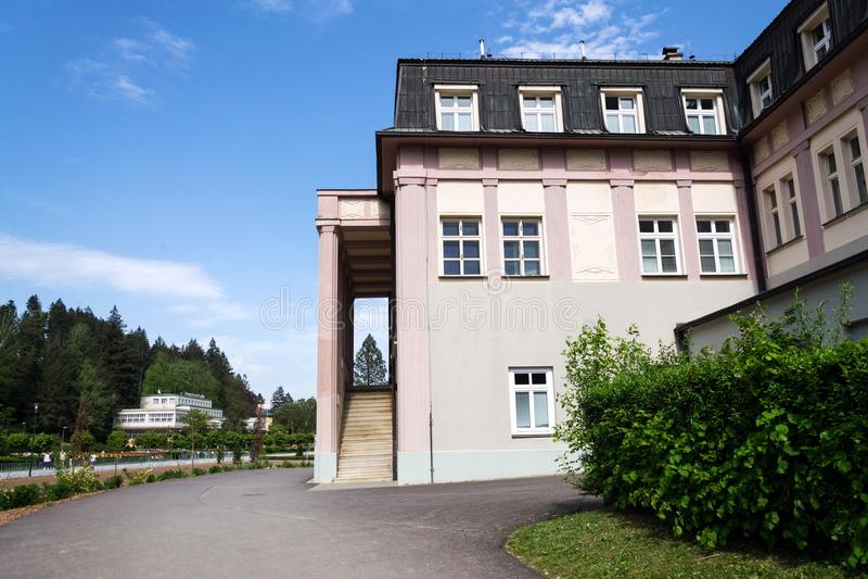 Inhalatorium - centre médico-social de clinique de station thermale dans Luhacovice, République Tchèque photo libre de droits