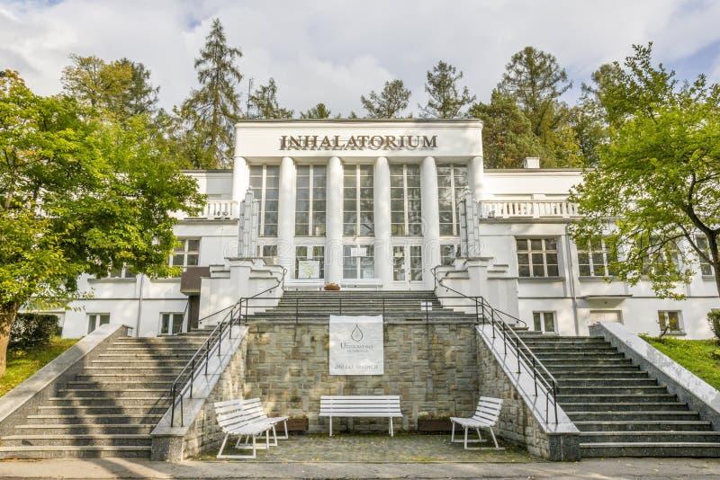 Inhalatorium i Szczawnica, Polen royaltyfri bild