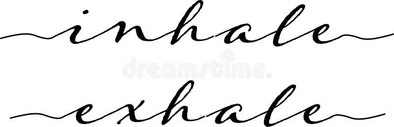 Inhale呼气印刷术 皇族释放例证