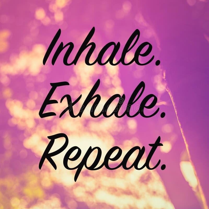 inhaleer exhale herhaal vector illustratie