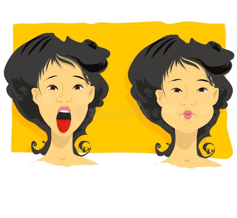 Inhaleer uitademen vector illustratie