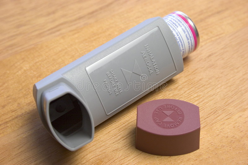 inhaler royaltyfri foto
