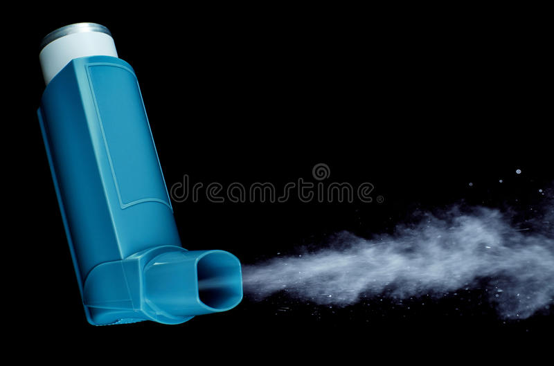 Inhaler, puffer royalty free stock images